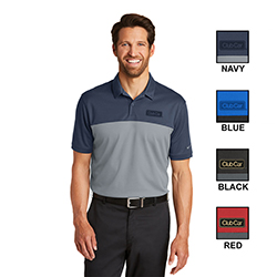 NIKE MEN'S DRI FIT COLORBLOCK MICRO PIQUE POLO